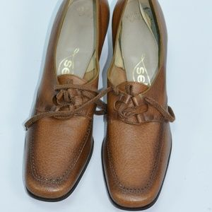 Vintage 1972 Selby Brown Oxford Shoes NOS